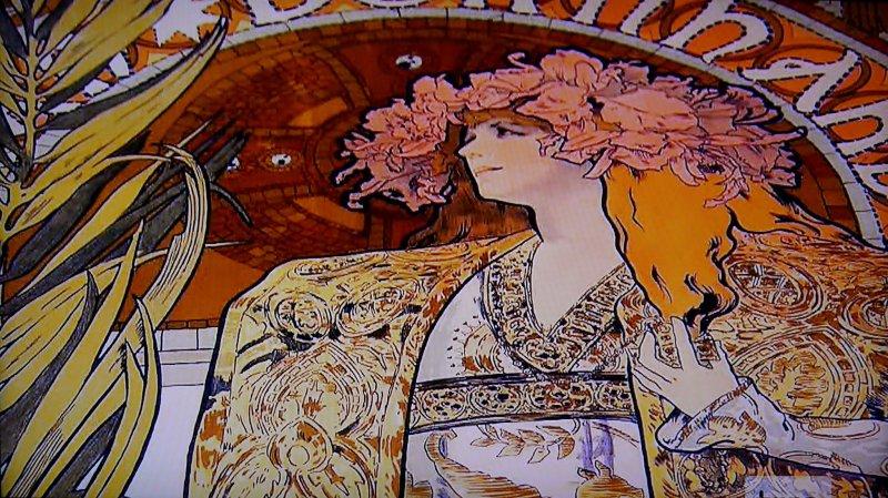 "One of Mucha's famous posters: ""Gismonda"" (1895)"