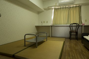 The tatami rooms are the same as the rest though the mats are a lovely addition