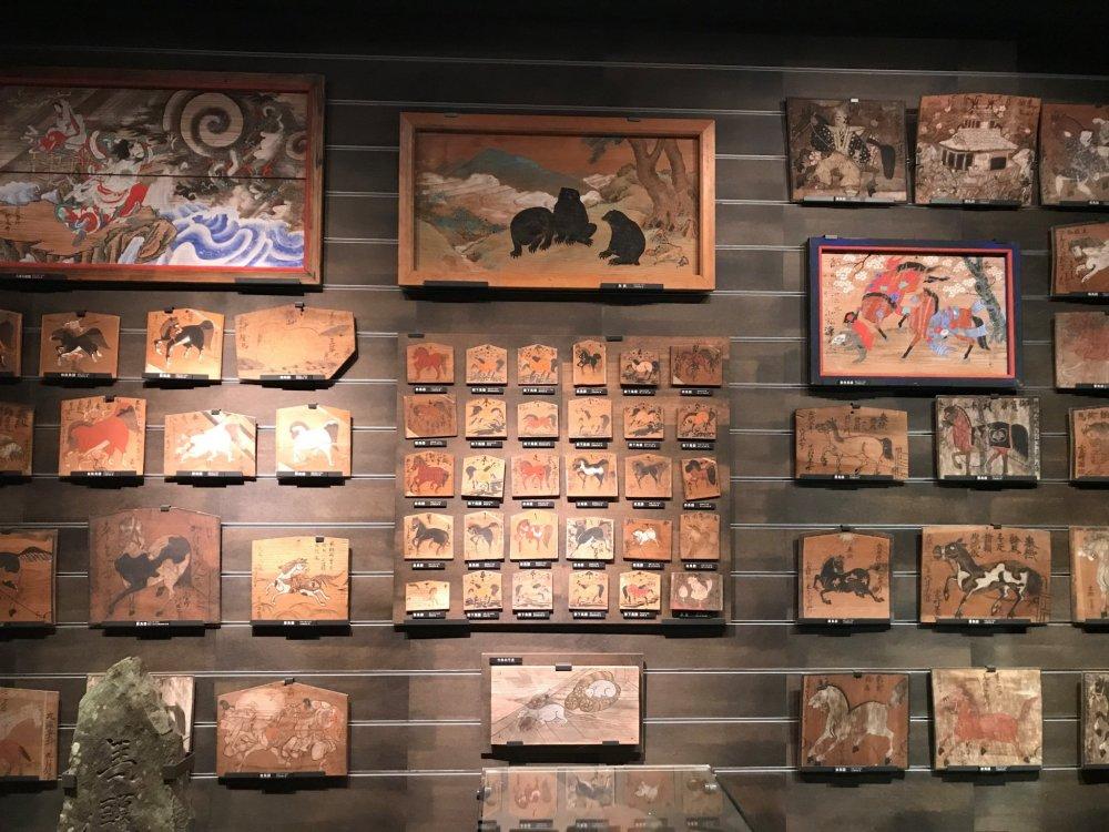 Ema votive plates showing horses