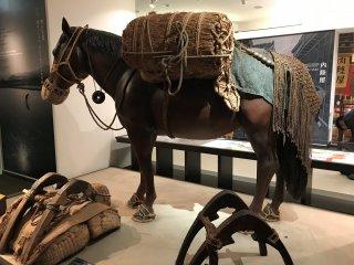 A Nambu horse used as a pack horse