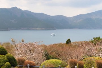 View of Lake Ashi from Observation platform