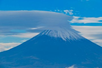 Mt Fuji taken from Hakone Ropeway in December