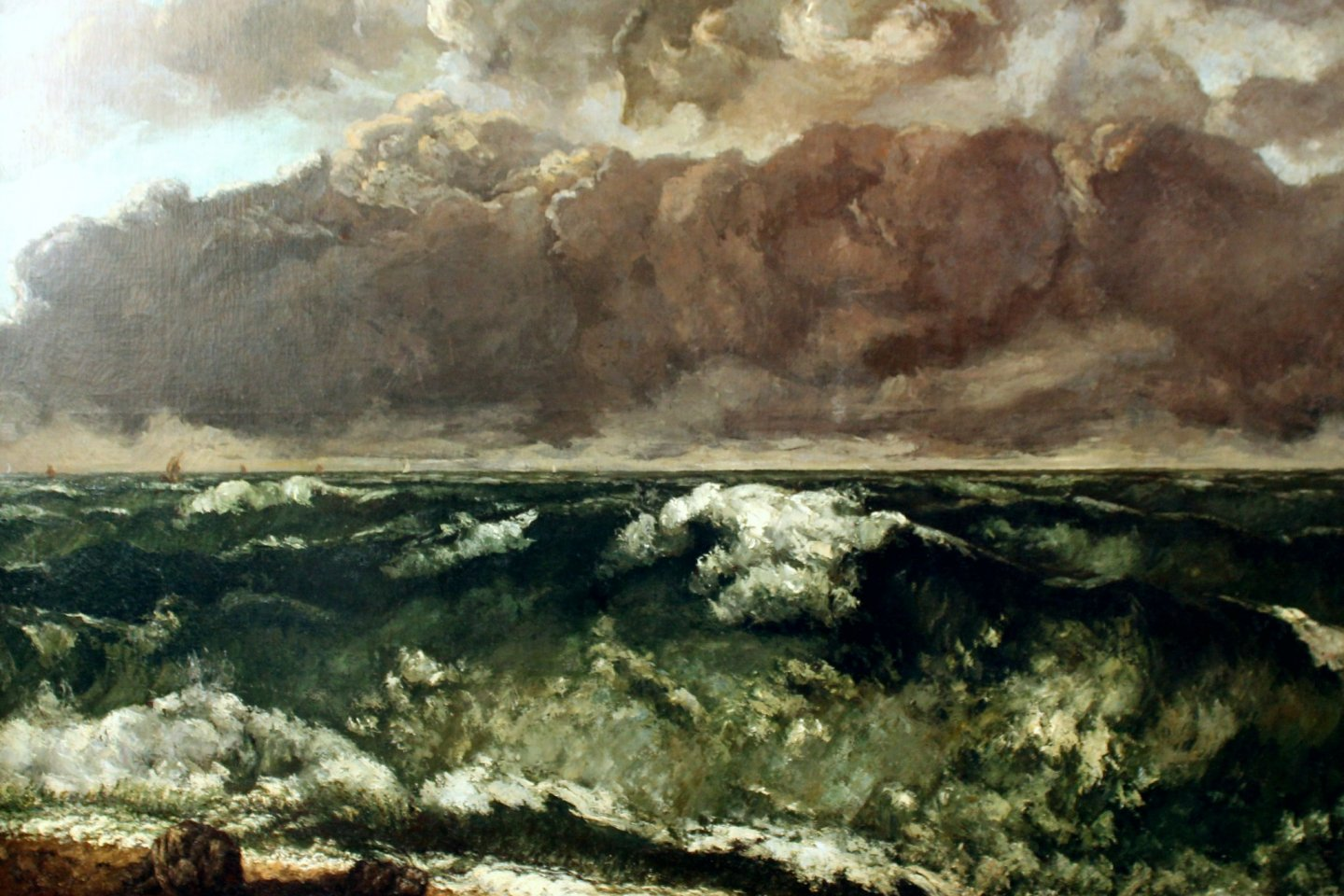 One of Courbet\'s works depicting the sea