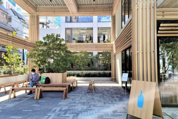 The semi-outdoor Large Roof Area adjacent to the Blue Bottle cafe