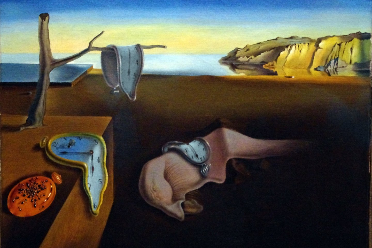 An example of Dali\'s Surrealist work: The Persistence of Memory (1931)