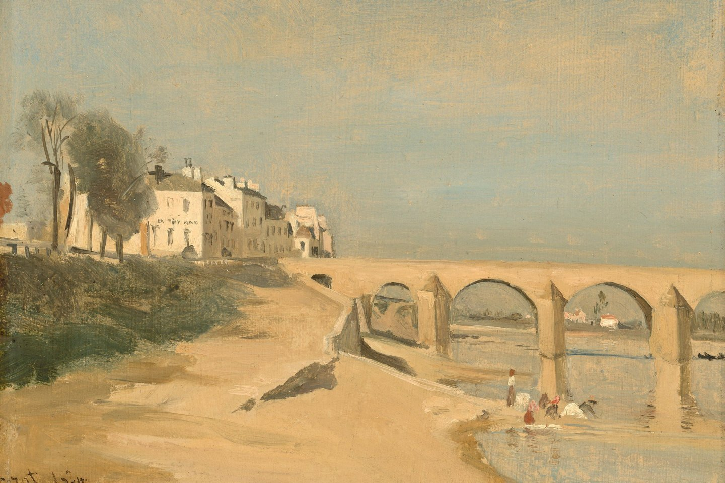 An example of  Jean-Baptiste Camille Corot\'s painting style