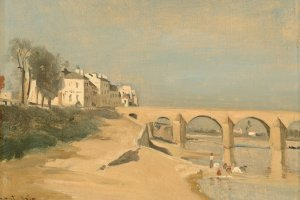 An example of  Jean-Baptiste Camille Corot's painting style