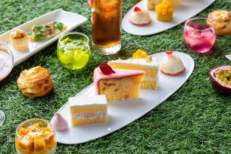 Both sweet and savory dishes are included in the afternoon tea