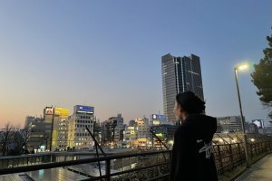 Evening view of Yotsuya