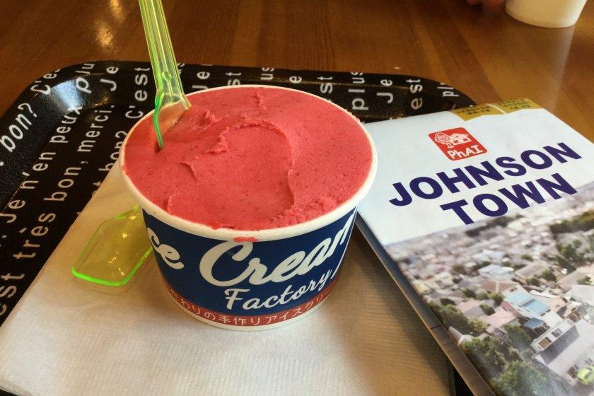 Raspberry gelato