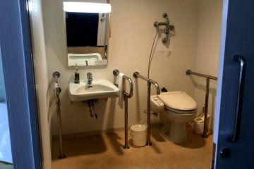 Accessible bathrooms in selected rooms