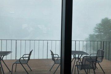 View from Hakodate Nanae Peak Cafe
