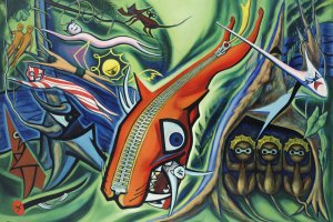 """Taro Okamoto's """"Law of the Jungle"""" (1950) is one of the works that will be displayed at the event"""