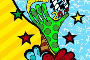 Britto was the official artist for the 2014 FIFA World Cup