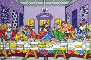 Britto's pop art style depiction of the Last Supper