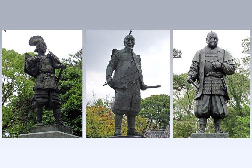 Слева направо: Ода Нобунага, Тоётоми Хидэёси, Токугава Иэясу