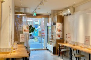 The small store maximizes its space
