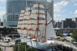 The Nippon-maru in full sail