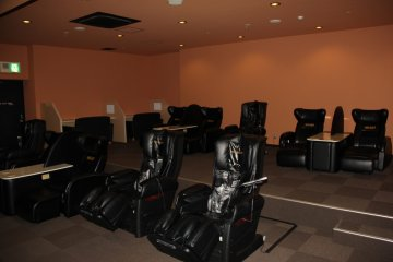 <p>Be sure to explore every corner of Round 1, these massage chairs are located behind the billiards area and the snack bar on the sixth floor</p>
