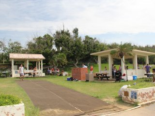 The BBQ area is a great place to relax at