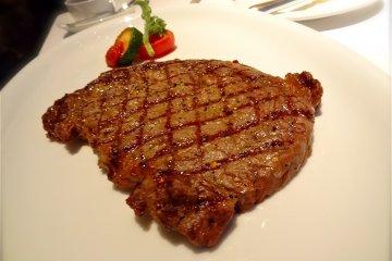 Grilled Beef: USDA Prime Ribeye 280g, ¥7,900