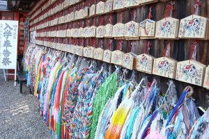 Ema and paper cranes at Fushimi Inari Taisha