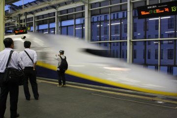 Feel dwarfed by the speedy Shinkansen