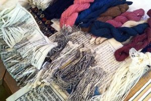 Natural fibers from old books
