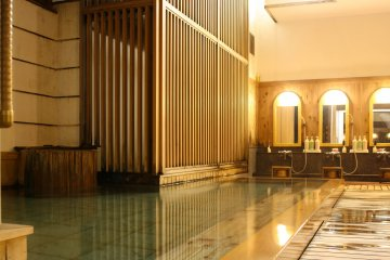 The indoor onsen
