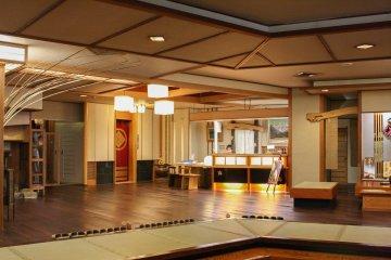 The entrance to the ryokan
