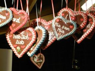Bánh quy gừng hình trái tim lebkuchenherzen truyền thống