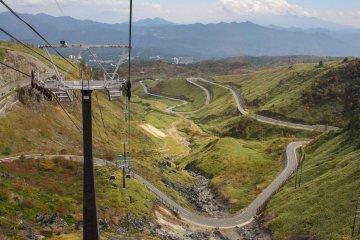 Goodbye Kusatsu Onsen, goodbye Sessho Kawara, goodbye snaky mountain road. Hello Mt Shirane!