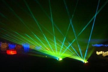 laser show on Saturday night