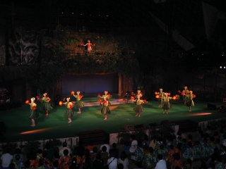 The 'Hula Girls' perform
