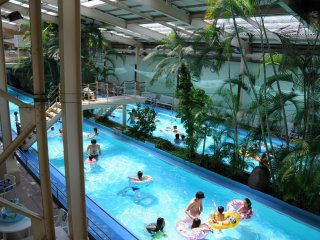 Within the water park, a 'lazy river'.