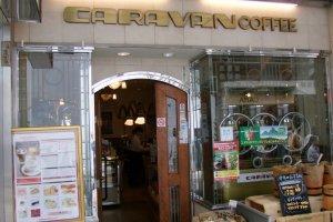Caravan Coffee is a tiny, cozy cafe.