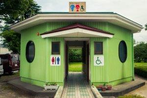 The quaint station toilets stick to the theme.