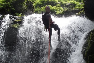 Canyoning in Chichibu