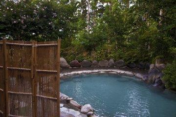 The Women's Rotenburo (open-air hot spring) enjoys fresh mountain air, too.