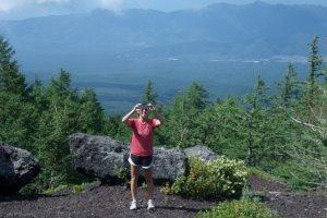 My Beautiful Hiking Partner. At 5th Base