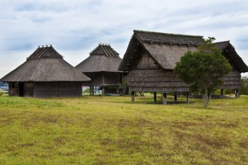 <p>The South Village contains 27 reconstructed buildings, including pit dwellings and raised-floor buildings.</p>