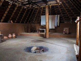 The inside of a typical pit dwelling at Minami-no-mura