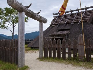 The King's House at Minami-naikaku: In this enclosure 20 buildings, including 4 watchtowers, the king's house, a cooking house and the royal residences, have been reconstructed.