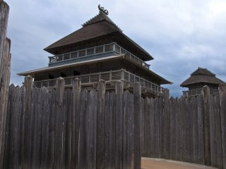 Kita-naikaku (North Inner Enclosure): The most important and most sacred of places within the Yoshinogari settlement; nine structures have been recreated, including an enormous shrine.
