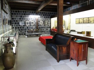 屋敷内の小さなミュージアム
