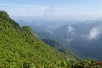Looking down into Niigata