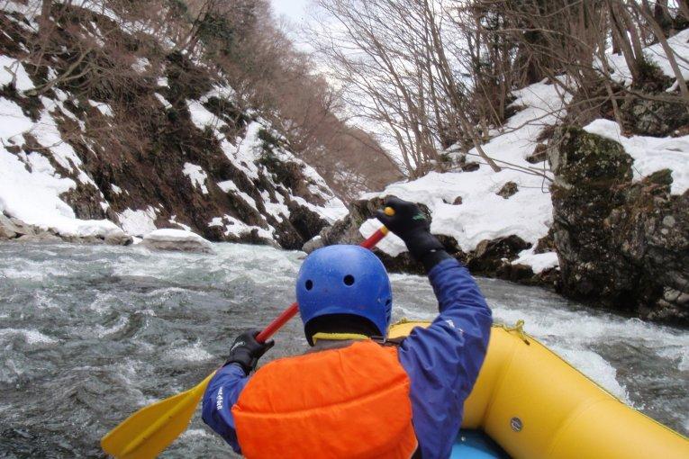 Rafting in Minakami in February