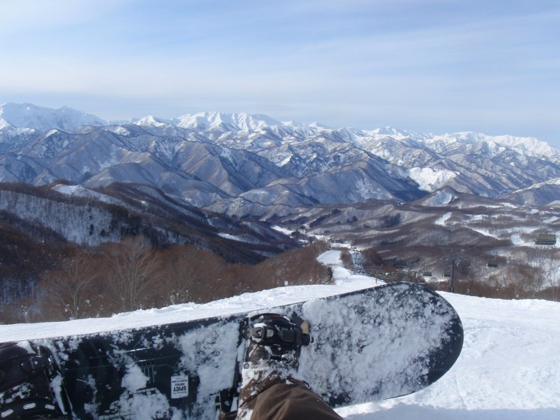 View from the top lift
