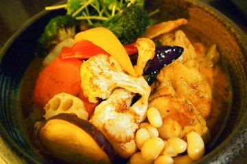 Every soup curry is packed with fresh ingredients soaked in tasty but light soup curry. Delish!