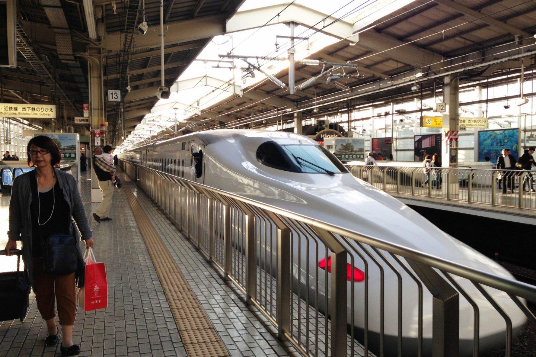 Nozomi Shinkansen Bullet Train at Kyoto Station
